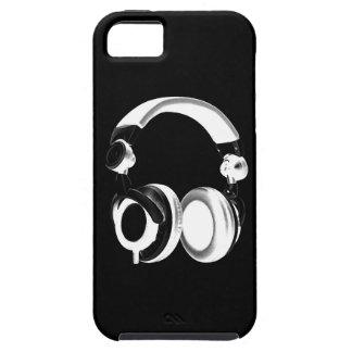 Silueta negra y blanca del auricular iPhone 5 carcasas