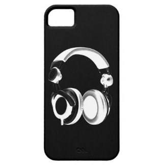 Silueta negra y blanca del auricular iPhone 5 carcasa