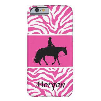 Silueta occidental negra del caballo del placer funda barely there iPhone 6