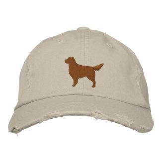 Silueta oscura del perro del golden retriever gorra de béisbol bordada