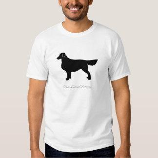 Silueta Plano-Revestida del perro perdiguero Remeras
