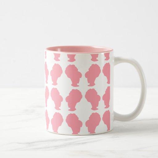 Silueta retra de la colmena taza de café de dos colores