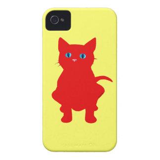 Silueta roja del gato iPhone 4 Case-Mate carcasa