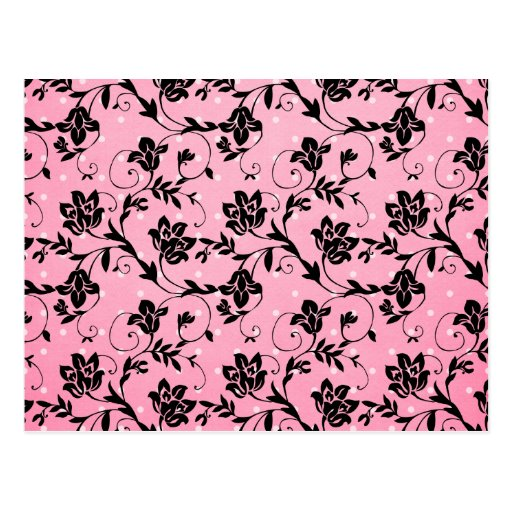 Silueta rosada, negra, blanca postal