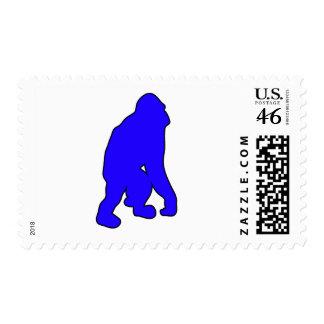 Silueta salvaje del mono del gran mono del orangut