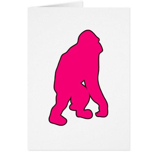 Silueta salvaje del mono del gran mono del orangut tarjeta de felicitación