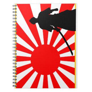 Silueta Samurai. Libros De Apuntes