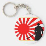 Silueta Samurai. Llaveros Personalizados