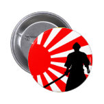 Silueta Samurai. Pin