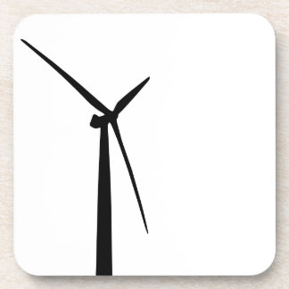Silueta simple de la energía del verde de la turbi posavaso