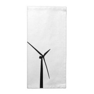 Silueta simple de la energía del verde de la turbi servilleta de papel