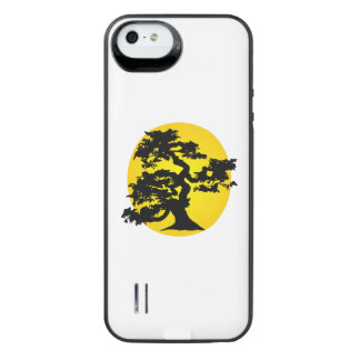 Silueta Sun de los bonsais Funda Con Bateía Para iPhone SE/5/5s