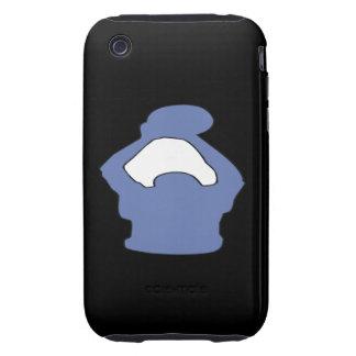 Silueta Tough iPhone 3 Cárcasa