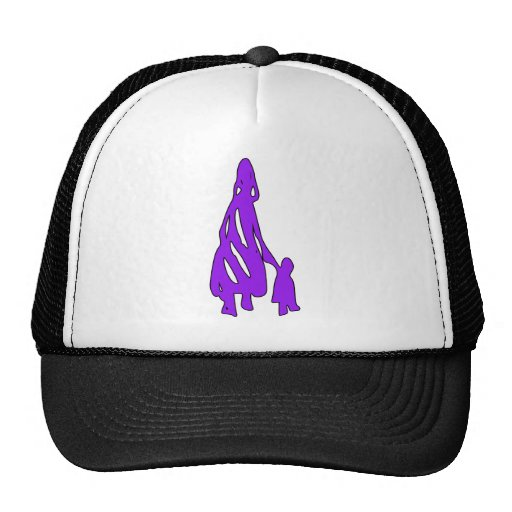 Silueta tribal del niño de la mujer w del arte de  gorras de camionero
