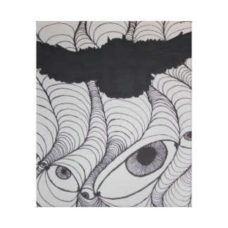 Silueta Trippy del búho Impresiones En Lona Estiradas
