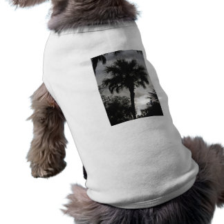 Silueta tropical playera sin mangas para perro