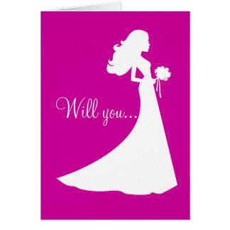 Silueta usted será mi tarjeta de la dama de honor