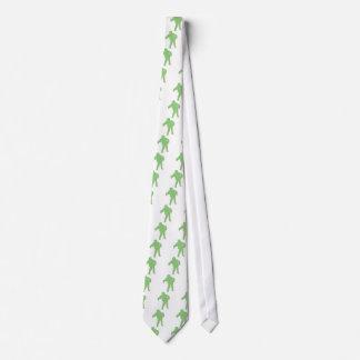 Silueta verde del zombi corbata