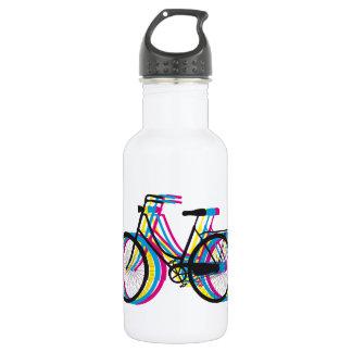 Silueta vieja colorida de la bicicleta, diseño de