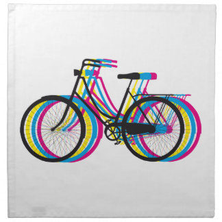 Silueta vieja colorida de la bicicleta, diseño de  servilletas