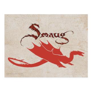 Silueta y nombre de SMAUG™ Tarjetas Postales