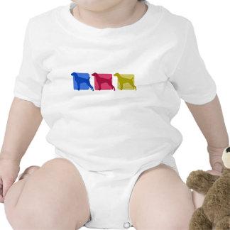 Siluetas alemanas coloridas del indicador de pelo traje de bebé