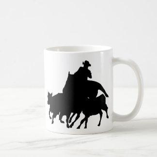 Siluetas - caballos - encierro del equipo tazas