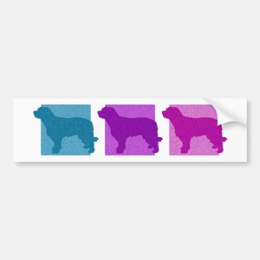 Siluetas catalanas coloridas del perro pastor pegatina para auto