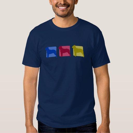Siluetas coloridas de Boston Terrier Camisas