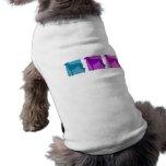 Siluetas coloridas del galgo camiseta de mascota