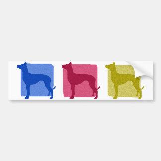 Siluetas coloridas del perro del Pharaoh Pegatina De Parachoque