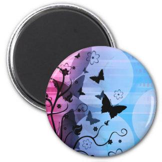 Siluetas de la mariposa imanes para frigoríficos