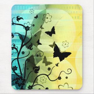 Siluetas de la mariposa mouse pads
