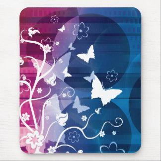 Siluetas de la mariposa mouse pad