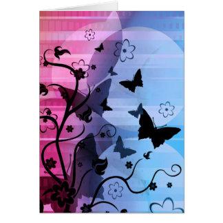 Siluetas de la mariposa tarjeta pequeña