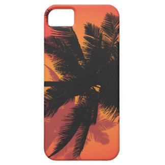 Siluetas de la puesta del sol de las palmeras funda para iPhone SE/5/5s