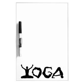 Siluetas de la yoga pizarras blancas