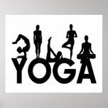 Siluetas de las mujeres de la yoga impresiones