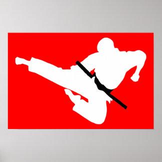 siluetas de los artes marciales impresiones