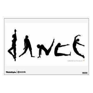Siluetas de los bailarines de la danza que bailan vinilo