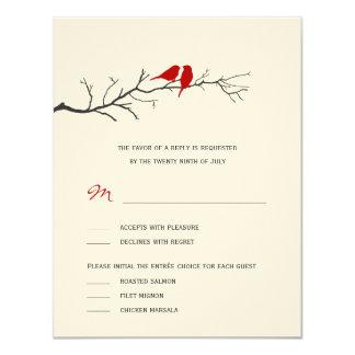 """Siluetas de los pájaros que casan las tarjetas de invitación 4.25"""" x 5.5"""""""