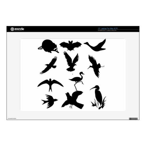 siluetas de los pájaros skins para portátil