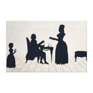 Siluetas de Monsieur y de señora Roland Impresión En Lona Estirada