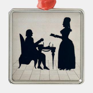 Siluetas de Monsieur y de señora Roland Adornos De Navidad