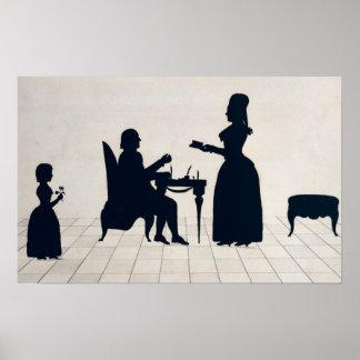 Siluetas de Monsieur y de señora Roland Poster