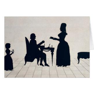 Siluetas de Monsieur y de señora Roland Tarjeta De Felicitación