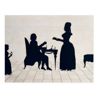 Siluetas de Monsieur y de señora Roland Tarjetas Postales