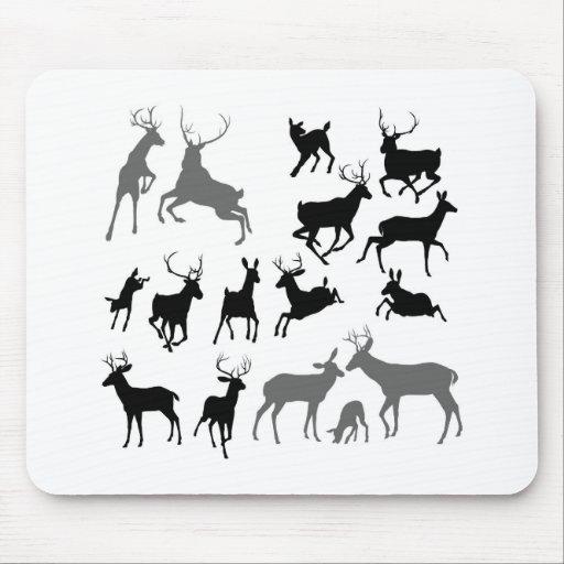 Siluetas del animal de los ciervos tapete de raton