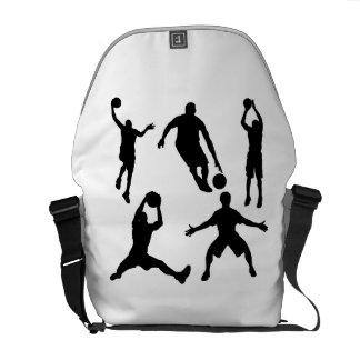 Siluetas del baloncesto bolsa messenger