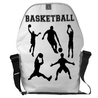 Siluetas del baloncesto bolsa de mensajería